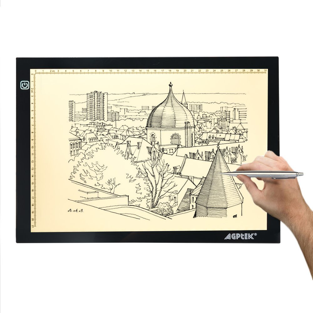 AGPtek A4 Plus LED Light Box Eye Protection Artcraft Tracing Pad USB Powered Dimmable Brightness with Memory Function for Artists, Drawing, Sketching, X-Ray Viewing, Animation
