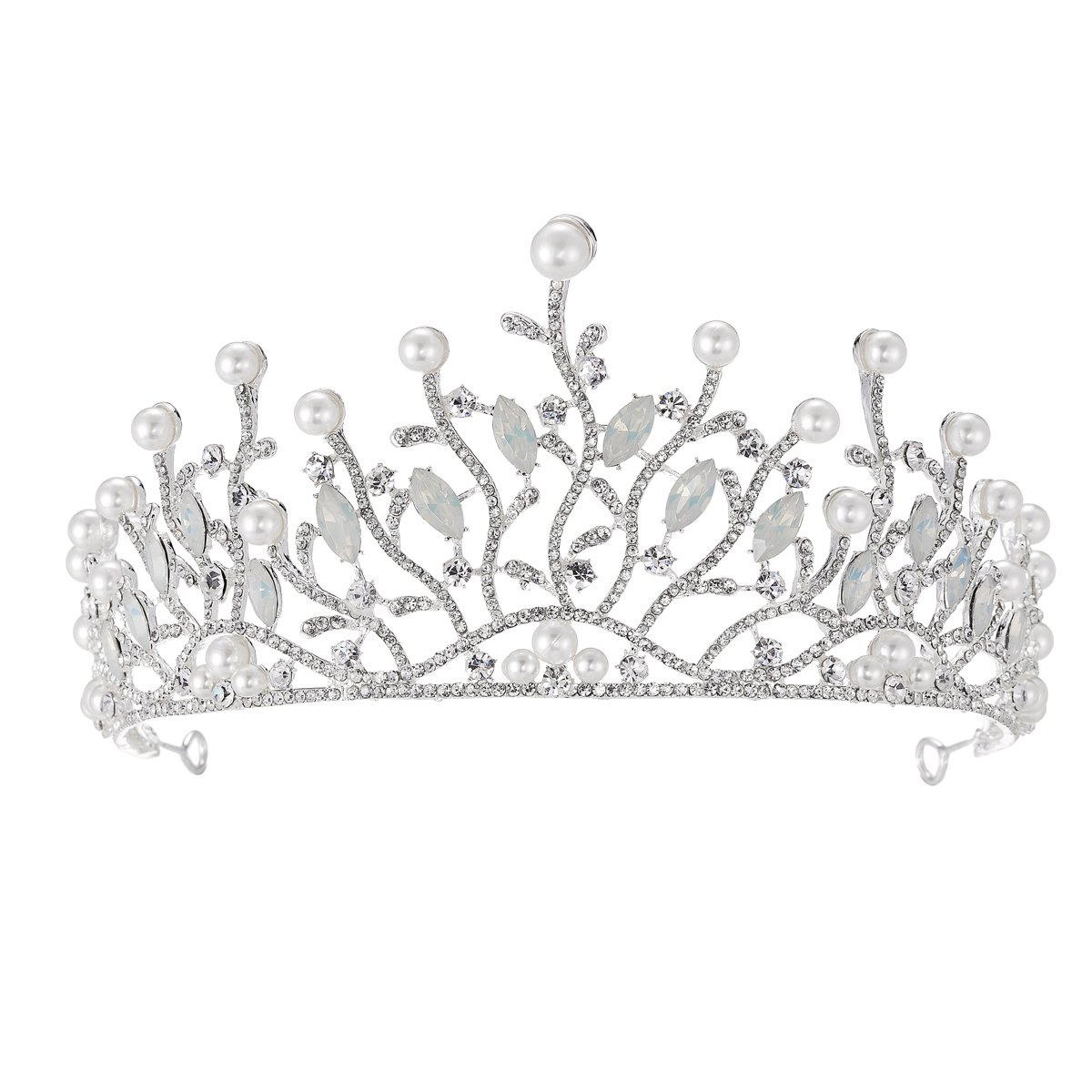 Wedding Crowns Tiara Silver...