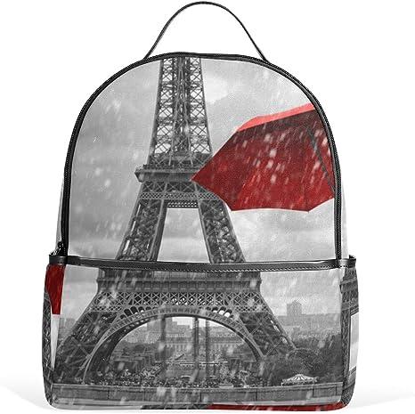 LUPINZ Paris Torre Eiffel con Paraguas voladores Rojos, Mochila ...