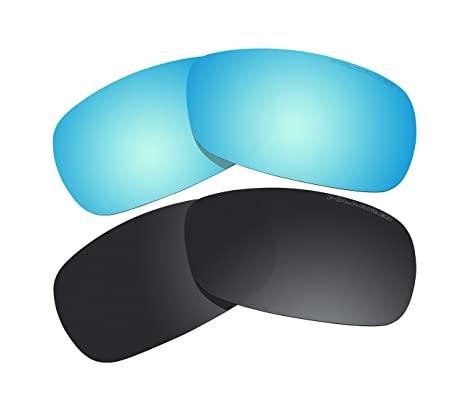 5e7bccd1c9 2 Pairs Polarized Lenses Replacement black   blue for Oakley Crosshair 2.0  (OO4044) Sunglasses - - Amazon.com