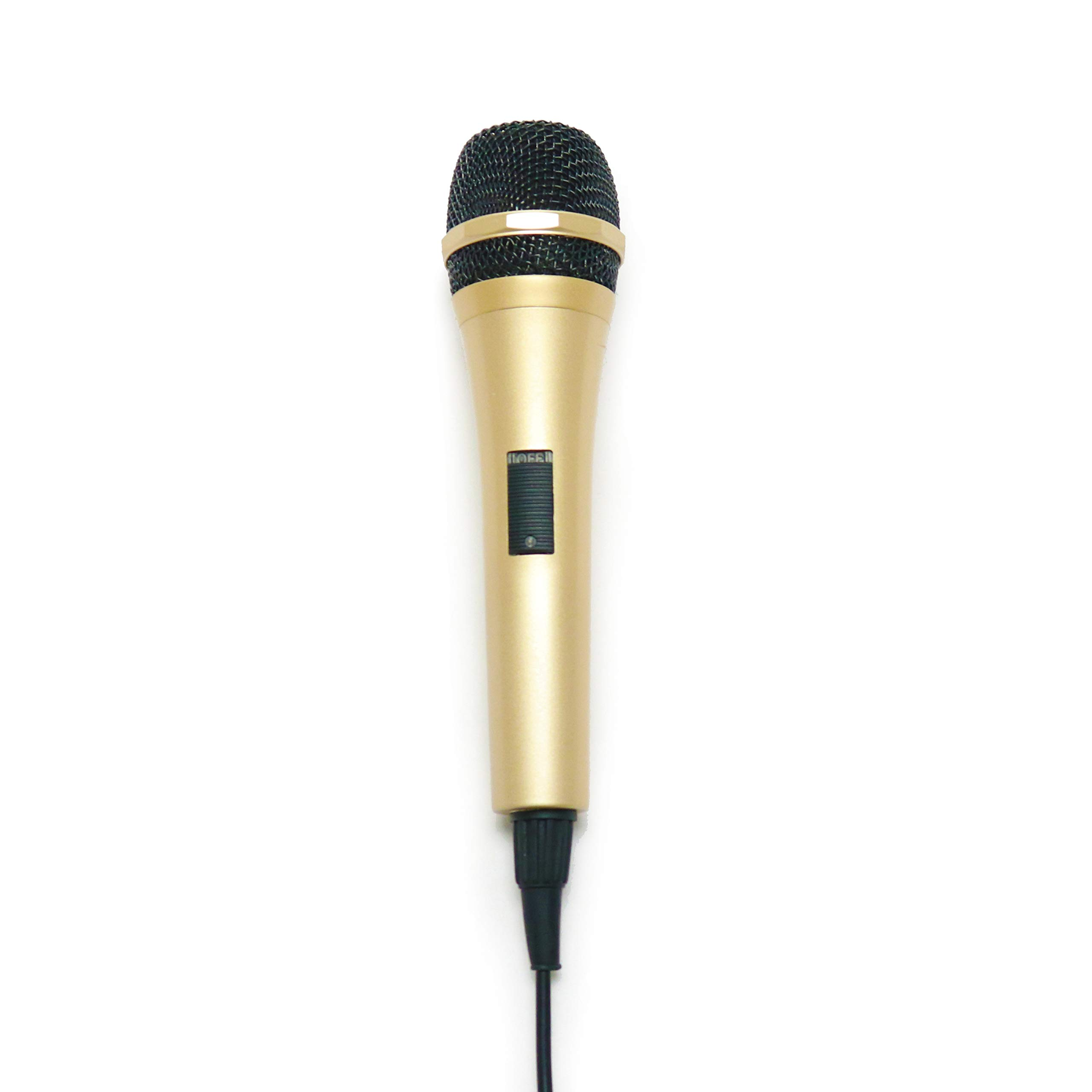 Singing Machine Vocal Dynamic Microphone, Gold (SMM290) by Singing Machine