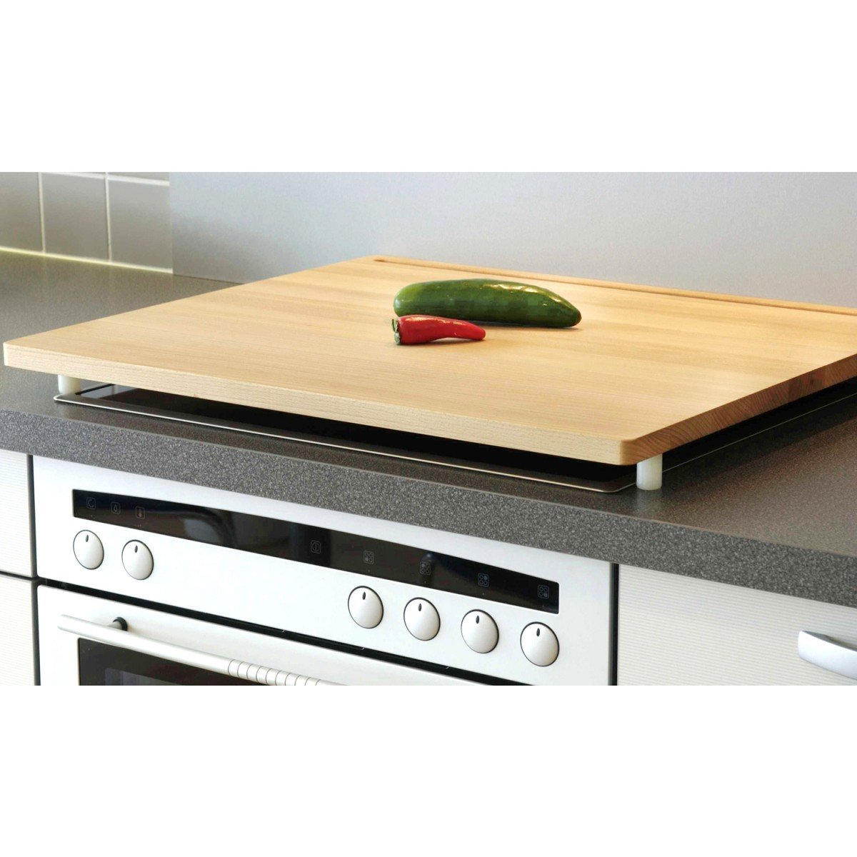 HELO Herd-Arbeitsplatte Buche geölt, 64x56cm: Amazon.de: Küche ...