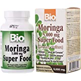 Bio Nutrition Bio N Moringa Super Food 10:1 Extract 60 Vegicaps, 5000 Mg