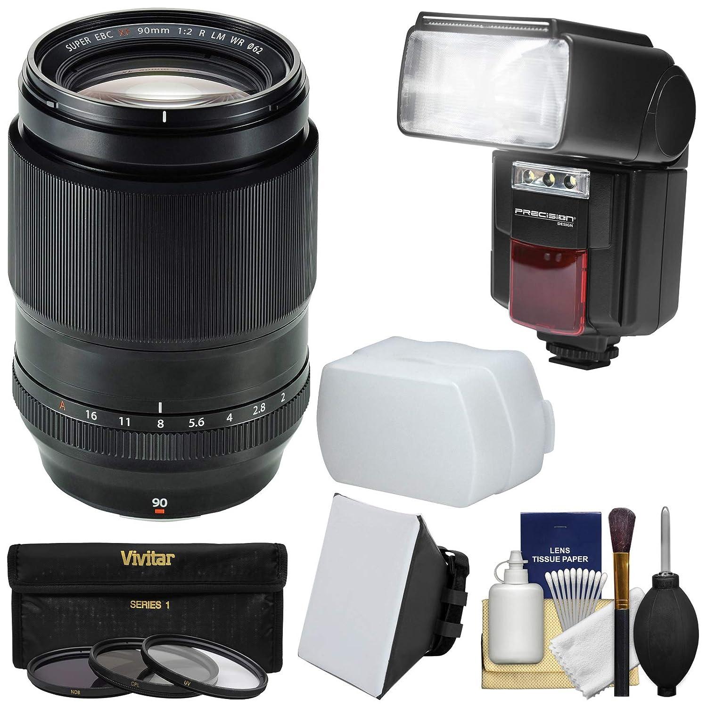 Fujifilm 90 mm f / 2 XF R LM WRレンズとFlash + 3 UV/CPL / nd8フィルタ+ソフトボックス& Diffuser +キットfor x-a2、x-e2、x-e2s、x-m1、X - t1、x-t10、x-pro2カメラ   B00Y0X45E0
