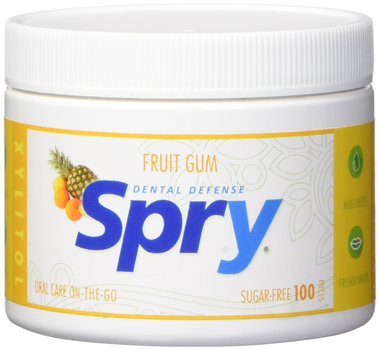 Spry Xylitol Gum, Fresh Fruit, 100 Count Xlear Inc. GFF100