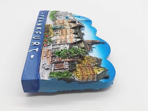 Deutschland Reiseandenken Souvenir 3D Polyresin Kühlschrank Magnet Frankfurt