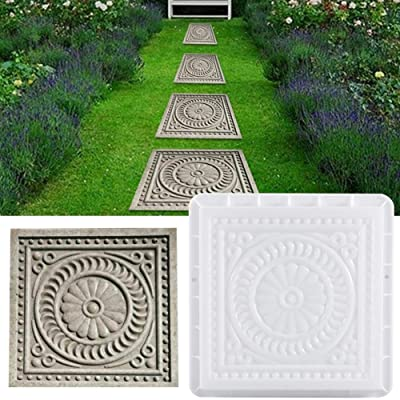 Per Newly DIY Walk Maker, Square Paving Mould, DIY Garden Plastic Concrete Mold, Pathmate Stone Paver Concrete Mold Paving Stepping Stone Mould : Garden & Outdoor