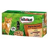 Kitekat Katzenfutter Frischebeutel Mix / Jagdschmaus in Sauce / Nassfutter Multipack für Katzen / 48 x 100 g Portionsbeuteln / Ente, Kaninchen, Kalb, Truthahn