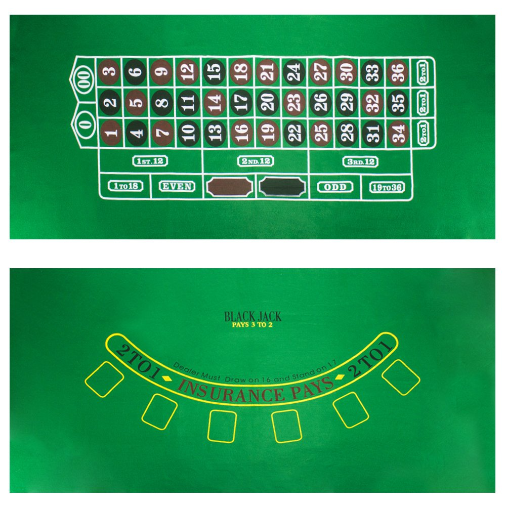 Brybelly Blackjack and Roulette Table Felt GFEL-103