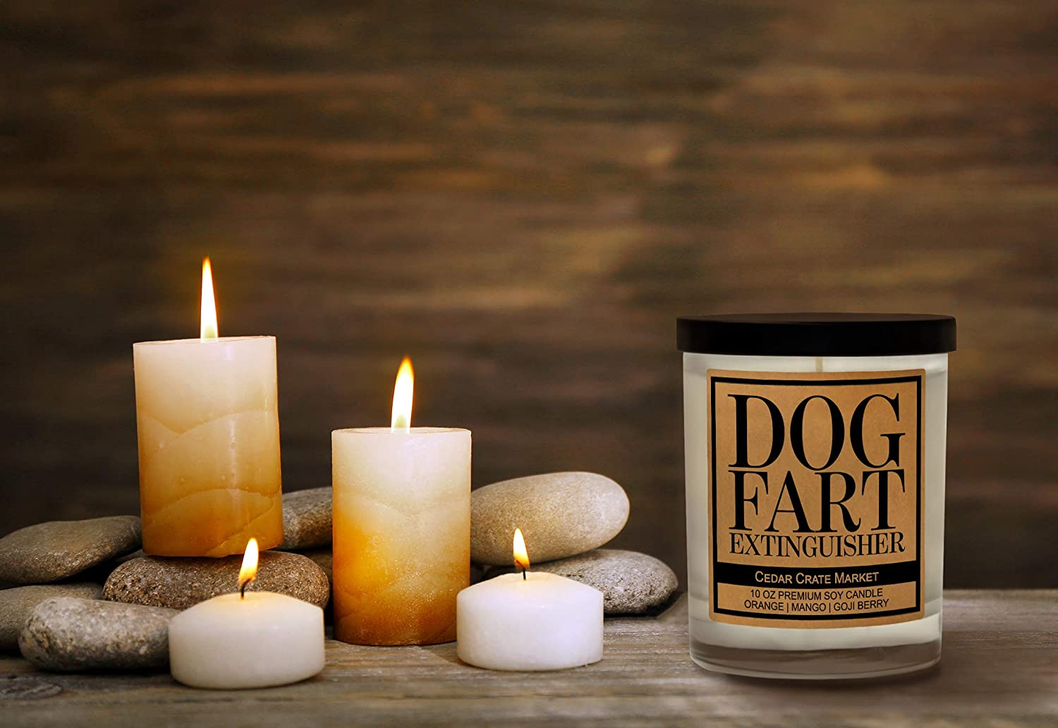 Dog Fart Dog Candle Vanilla Candle Funny Candle Joke Gift Gift for Dog Lovers Fun Gift for Men Scented Candle Gift for Dad DNFPP