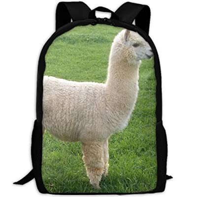 85%OFF SZYYMM Create My Own White Alpacas Oxford Cloth Fashion Backpack,Travel/Outdoor Sports/Camping/School, Adjustable Shoulder Strap Storage Backpack For Women And Men
