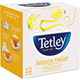 Tetley Flavour Tea, Lemon, 12 Tea Bags