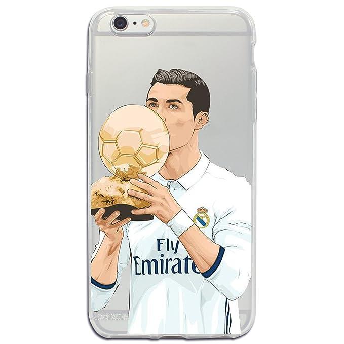 2 opinioni per iPhone 6/6S Cover Calcio- Cristiano Ronaldo- CR7- Real Madrid- Ballon d'or