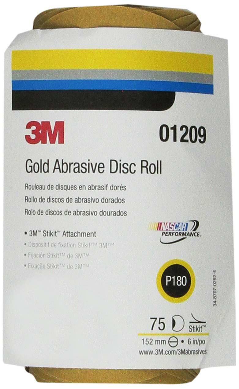 3M 01209 Stikit Gold 6' P180A Grit Disc Roll