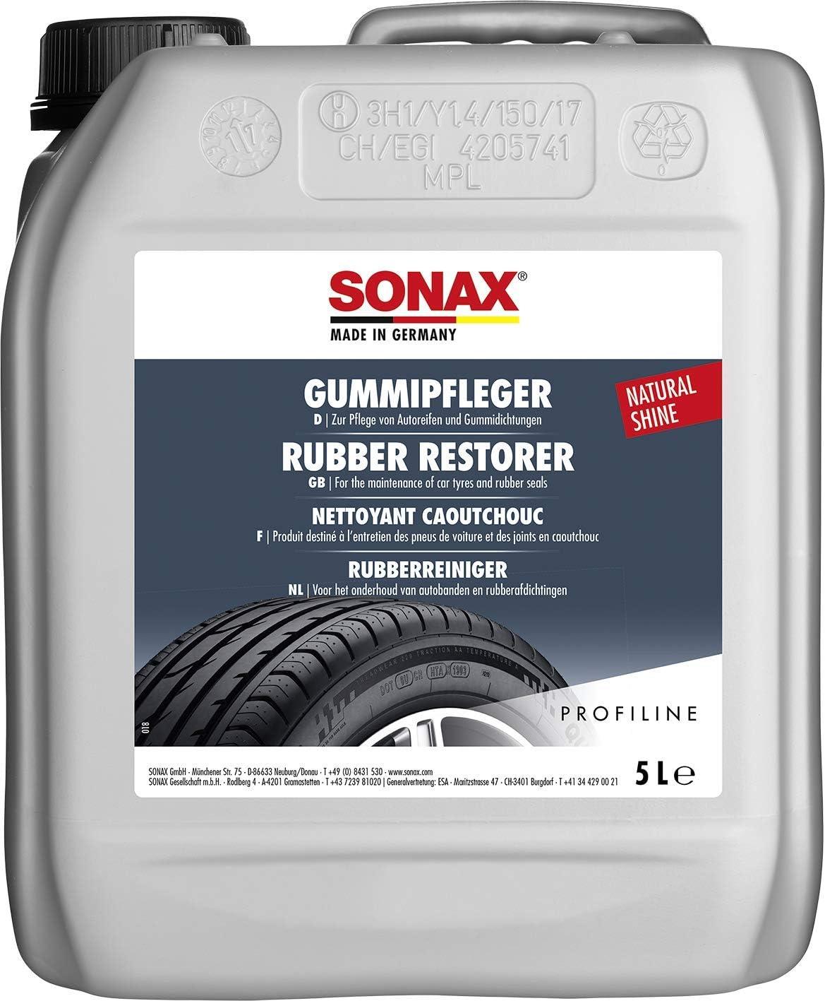 Sonax Profiline Gummipfleger 5 Liter Reinigt Und Pflegt Alle Gummiteile Am Auto Und Hält Sie Elastisch Art Nr 03405050 Auto
