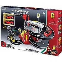Bburago 15631204 - Garaje de Ferrari con dos