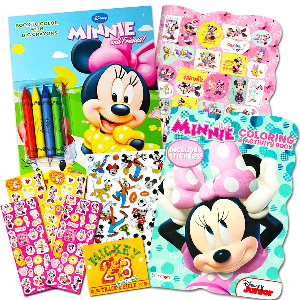 B00RWCU0PE Disney Minnie Mouse Coloring Book Set with Stickers -- 2 Deluxe Coloring Books and over 150 Stickers 71z4hBQxb0L
