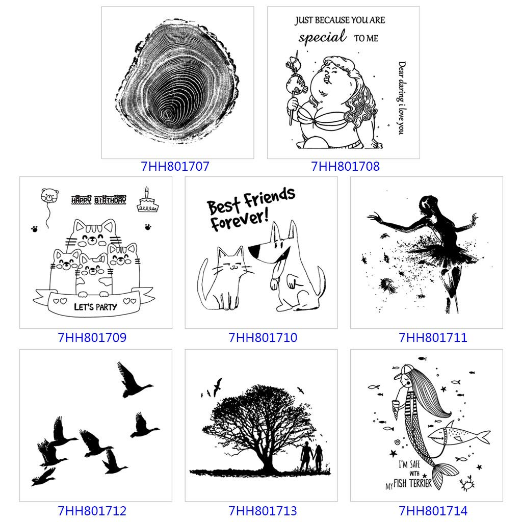 YAYA/Fly Bird Silicona Sello transparente Fondo Sellos claros Fabricaci/ón de tarjetas de Scrapbooking DIY