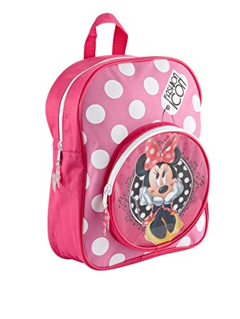 Minnie Mouse Nursery Backpack with Polka Dot Ribbon Bow