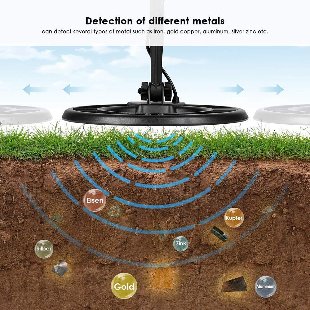 HUKOER Detector de Metales MD3030 de Alta sensibilidad, Detector de Dinero de Cobre de Oro y Plata Profesional con Pantalla de Cristal líquido: Amazon.es: ...
