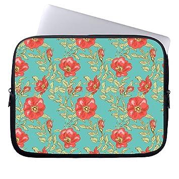 neafts bolsa de 10 pulgadas para el ordenador portátil de hojas floral patrón neopreno Funda para Netbook iPad tablet computer #multi 12-12.9Inches: ...