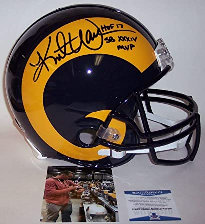 finest selection f6751 6c5be Amazon.com: Kurt Warner - Autographed Official Full Size ...