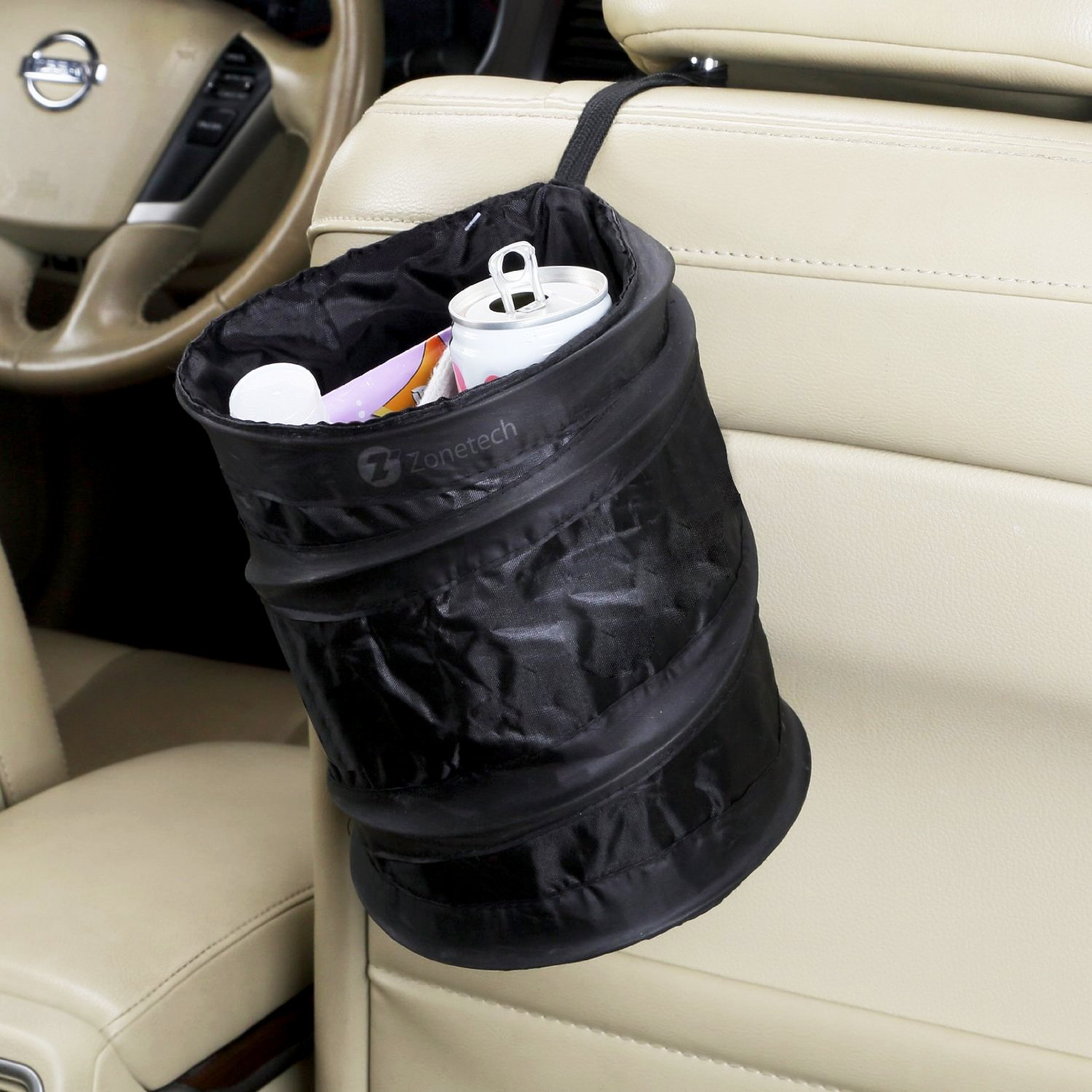 zone tech collapsible pop up leak proof trash can and compact litter storage bag ebay. Black Bedroom Furniture Sets. Home Design Ideas