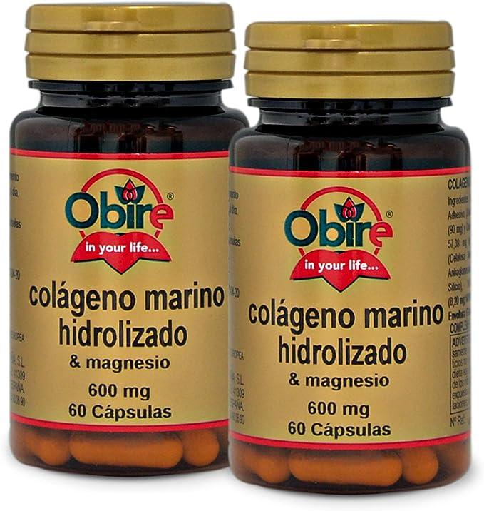 Colágeno marino hidrolizado + magnesio 600 mg. 60 capsulas con vitamina C, vitamina B6, vitamina B9 y vitamina B12. (Pack 2 unid.): Amazon.es: Salud y cuidado personal