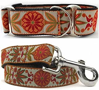 "product image for Diva-Dog 'Venice Ivory' 2"" Extra Wide Chainless Martingale Dog Collar, Matching Leash Available - MD, LG, XL"