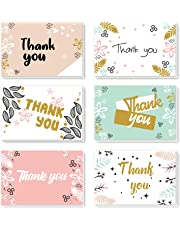 [48 Pack] ProCase Thank You Cards, Thank You Notes with 8 Floral Designs and Matching Envelopes, 4 x 6 Inch Blank Greeting Cards for Wedding, Bridal Baby Shower, Birthday, Anniversary