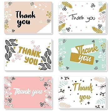 Amazon.com: ProCase - Tarjetas de agradecimiento, 48 ...