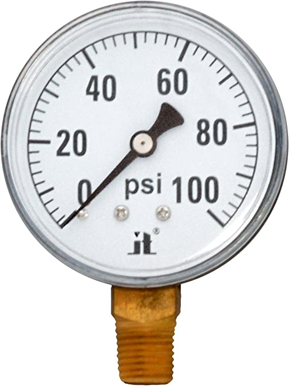 Zenport DPG60 Zen-Tek Dry Air Pressure Gauge 60 PSI Box of 10
