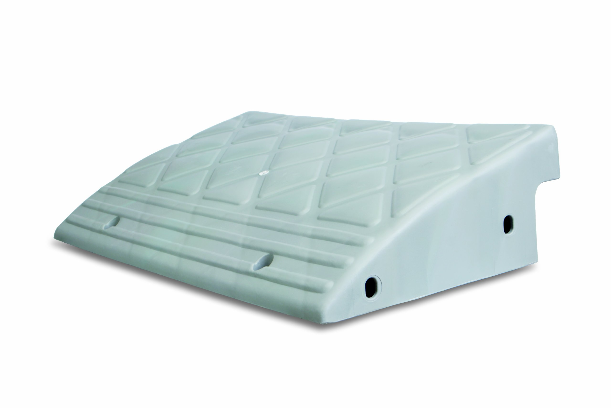 MAXSA Curb Ramp. Durable, Lightweight Plastic Multi-purpose Ramp to Bridge Curbs/Steps for Wheelchairs, Cars, Trucks & Carts Grey 20031