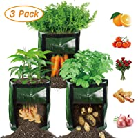 【3 Pack】 Potato Grow Bags, Plant Grow Bags 7 Gallon Heavy Duty Thickened Growing...