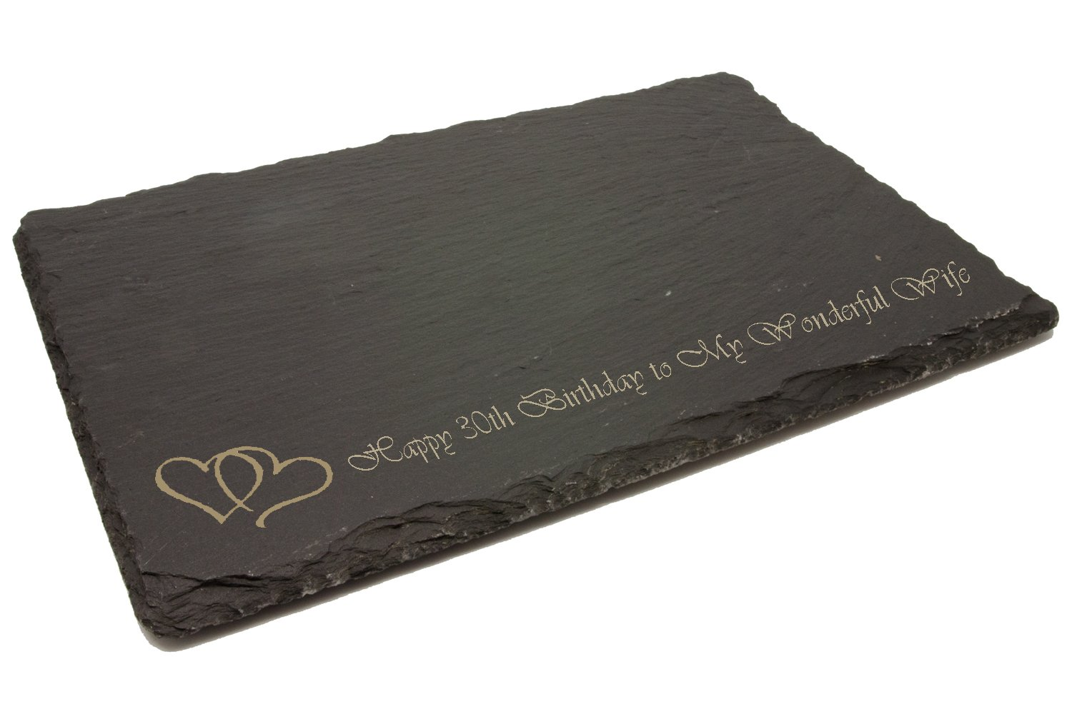 Personalised Slate Cheeseboard or Chopping Board, Laser Engraved County Engraving