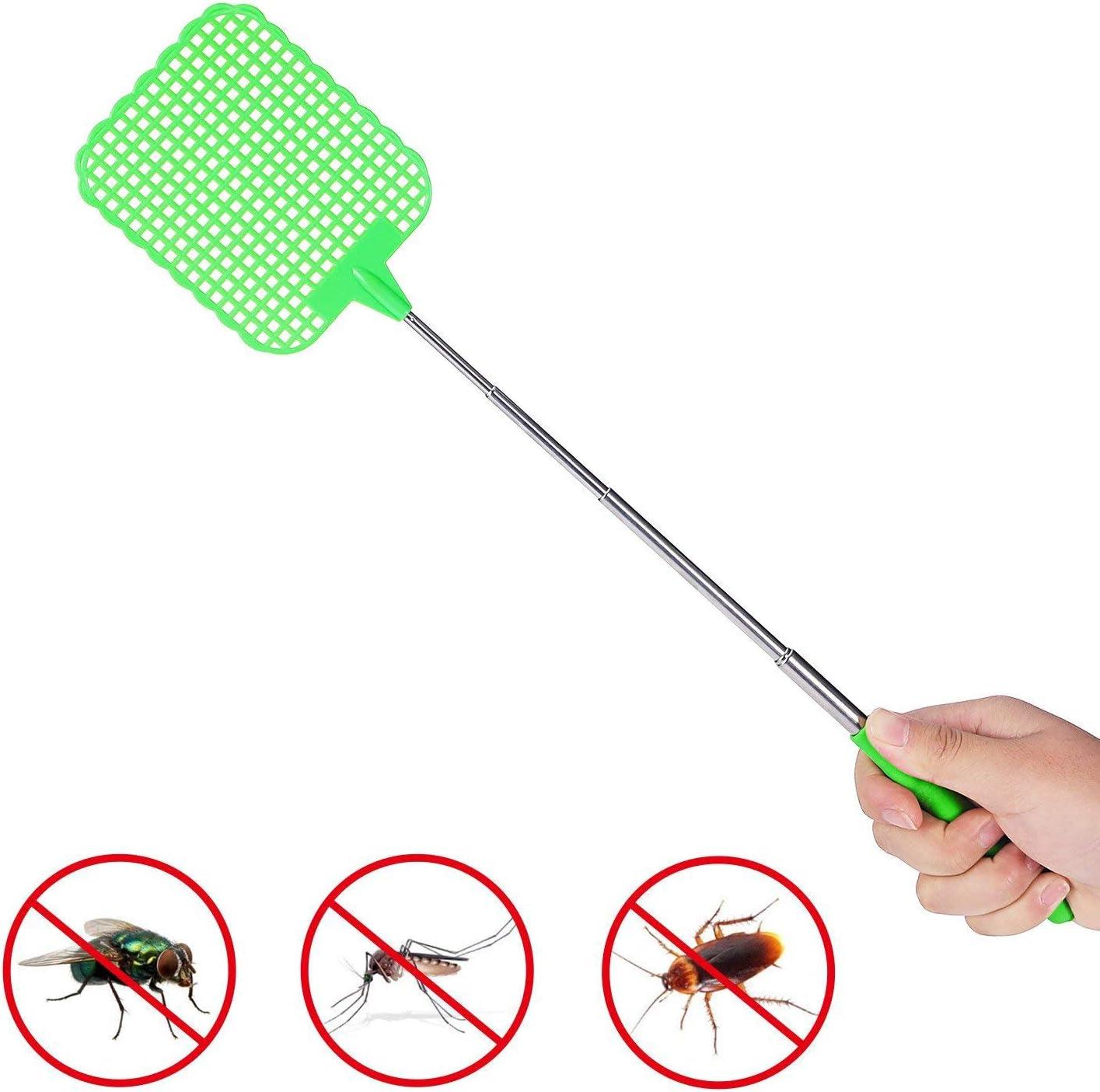 6 Colores Matamoscas Extensible Grande Mosquitos e Insectos Repelente de Mosquitos protecci/ón contra Moscas N 6 Piezas Matamoscas plastico