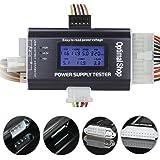 "Optimal Shop 20/24 4/6/8 PIN 1.8"" LCD Computer PC Power Supply Tester for SATA"