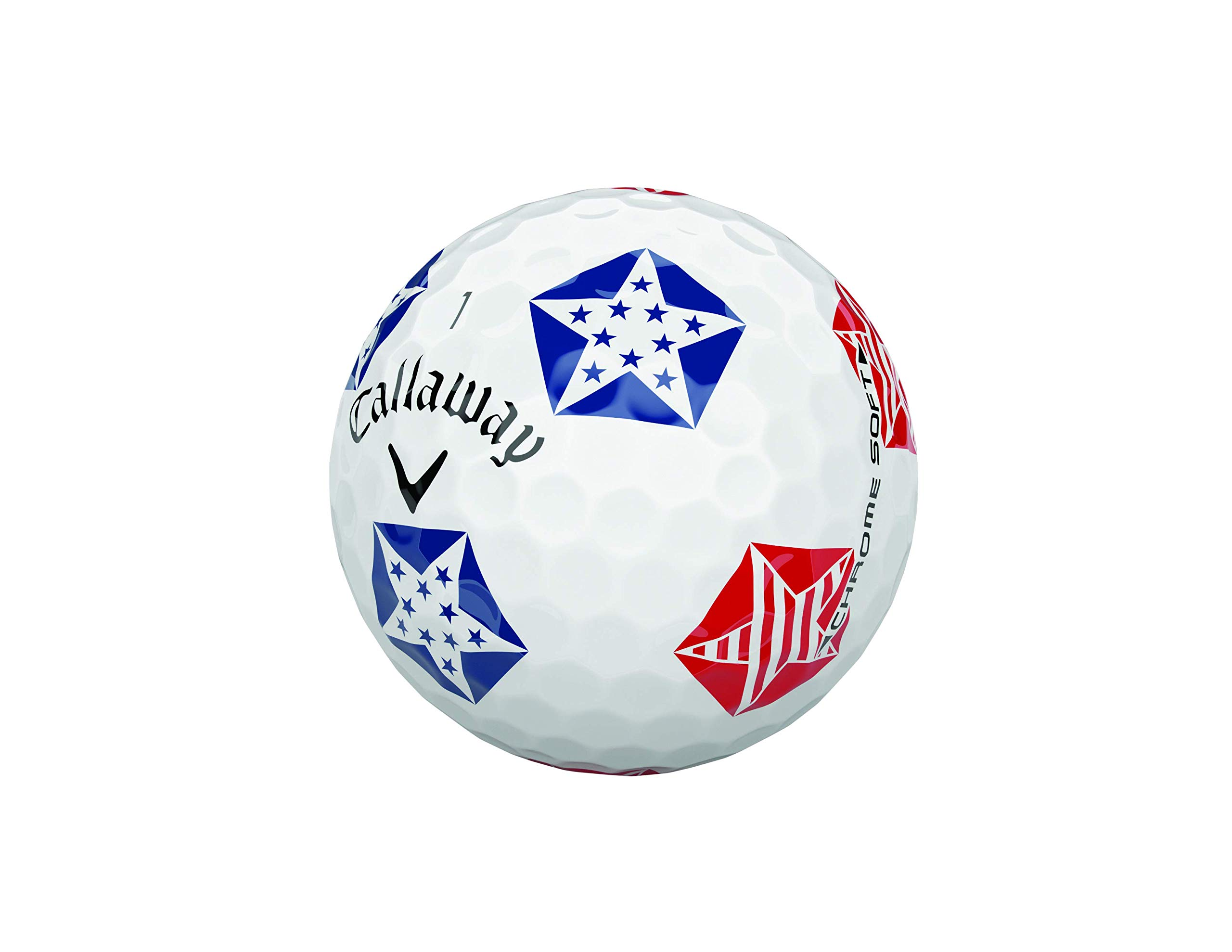 Callaway Golf Chrome Soft Truvis Golf Balls, (One Dozen), Stars and Stripes (Limited Edition) by Callaway (Image #5)