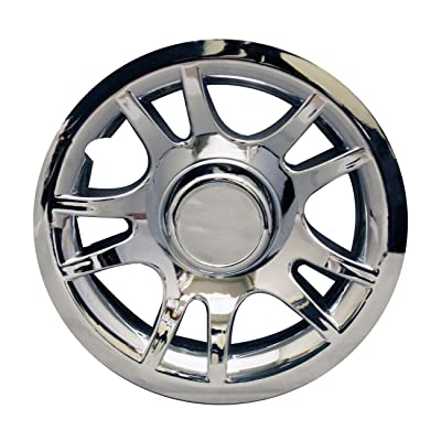 "E-Z-GO Pro-Fit PF11074 Split Spoke Chrome Wheel Cover, 8"": Garden & Outdoor"