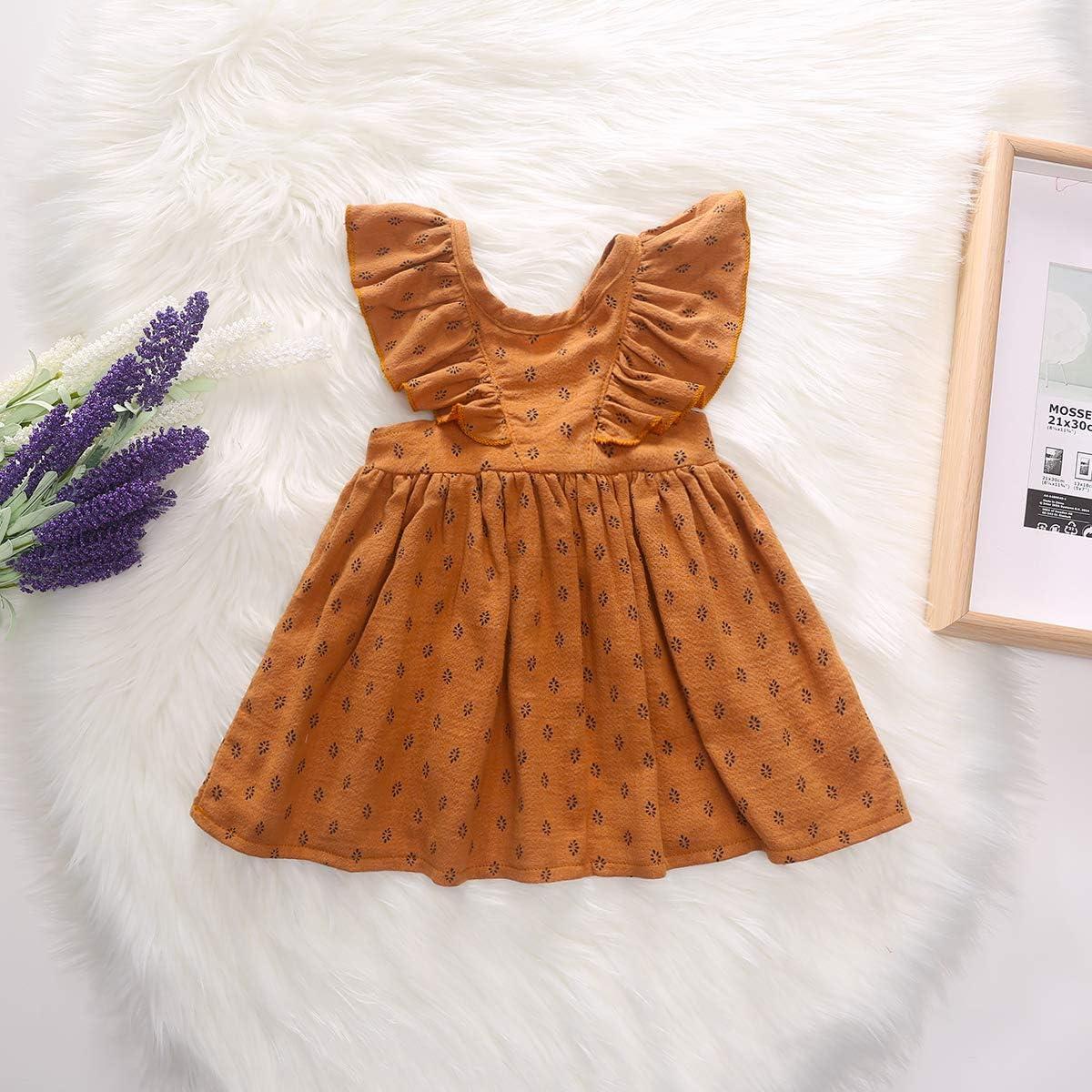 CANDYEEMMA Baby Girls Suspender Skirt Toddler Summer Dress Kids Clothes