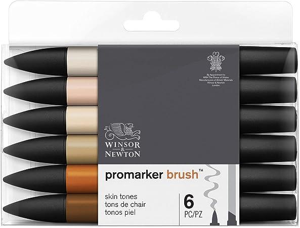 Winsor & Newton - Set de Rotuladores ProMarker Brush, 6 Unidades ...