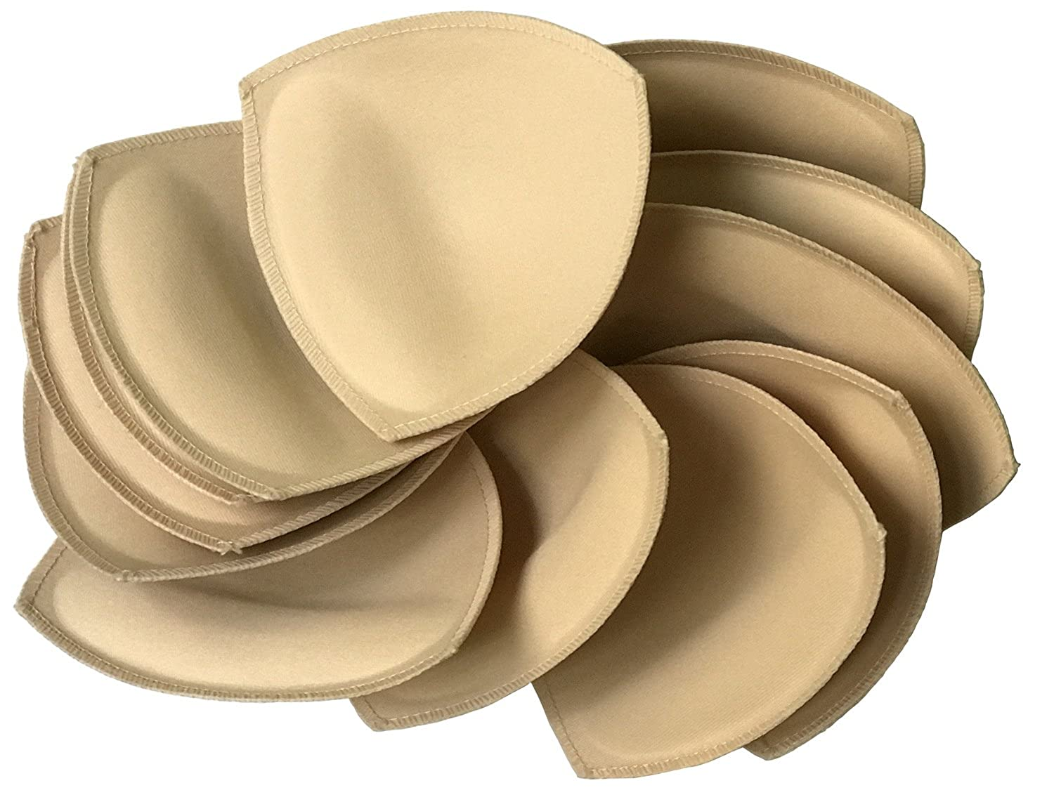 6 pairs Removeable bra pad insert (beige) for sport bra and bikini tops