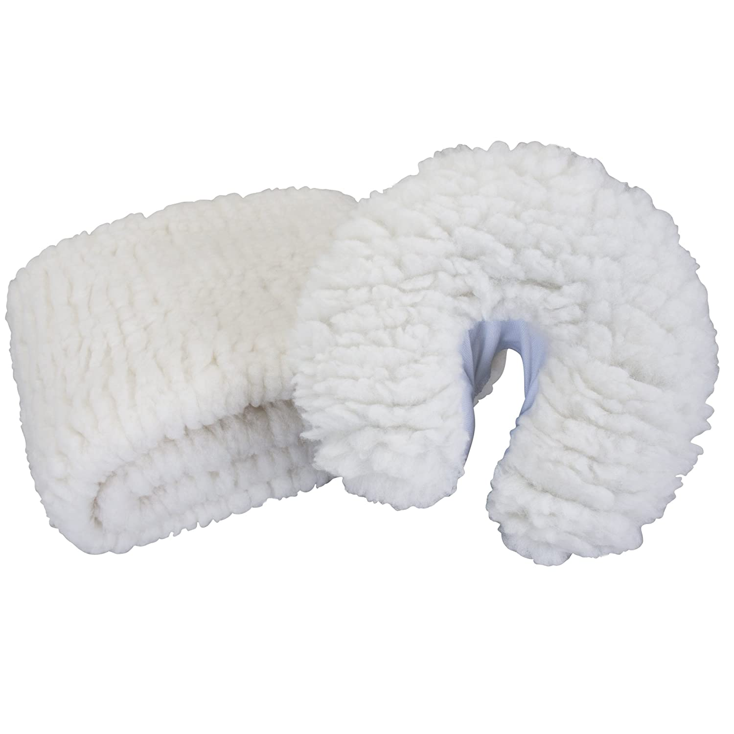 EARTHLITE Massage Table Fleece Pad Set – 1/2 Thick Woolly Fleece incl. Fitted Pad & Face Cradle Cover (2pc) 44200