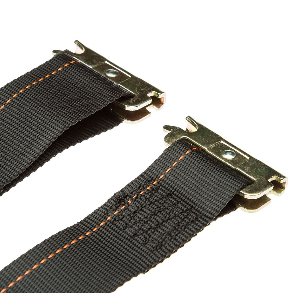 x 2 2-Pack E-Track Fitting Cam Buckle Cargo Tie-Down Straps 12 ft