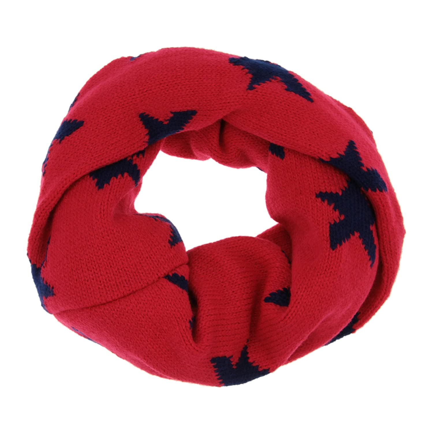 Liying 1-8 Years Old Kids Lovely Chunky Warm Neckerchief Crochet Knitted Circle Loop Scarf Cowl Shawl Snood Christmas Gift