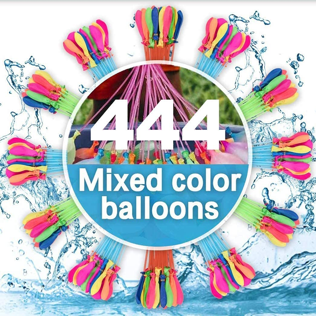 Water Balloons for Kids Girls Boys Quick Fill 444 Balloons Set for