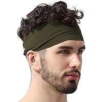 nuluxi Unisex Sports Headband Moisture Wicking Sweatband Breathable Elastic Head Band Non-slip Moisture Wicking Hair Band for Yoga Running Football Cycling Travel Basketball Exercise Fitness Exercise