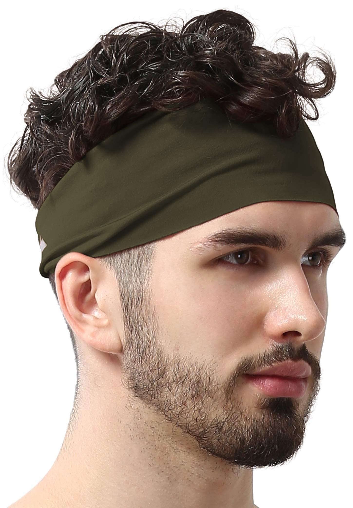 Mens Headband - Running Sweat Head Bands for Sports - Athletic Sweatbands for Workout/Exercise, Tennis & Football - Ultimate Performance Stretch & Moisture Wicking by Tough Headwear