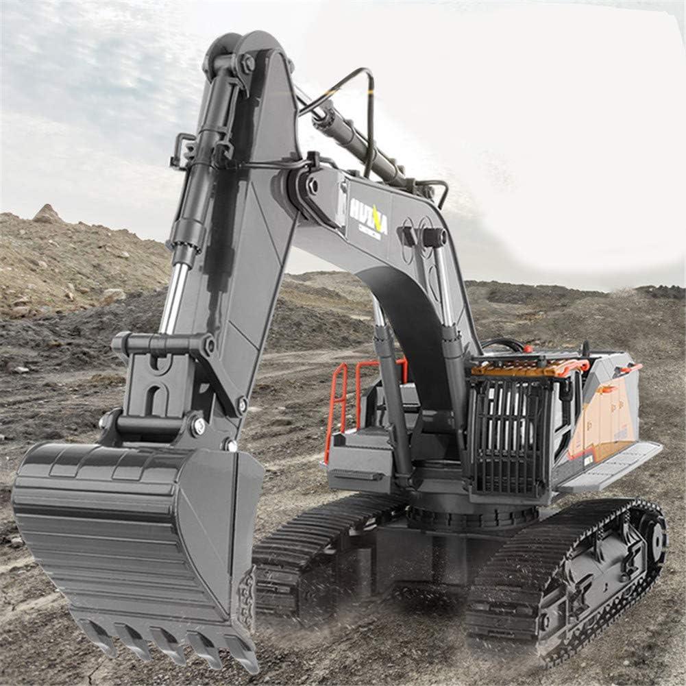 AKDSteel Hu-iNa 1:14 1592 RC Excavadora de aleación de 22 CH grandes camiones RC simulación excavadora control remoto vehículo juguete para niños para juguetes regalos