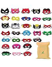 Formwin 30pack Superhero Masks for Children Kids Party Supplies,Superhero Party Mask for Children Superhero Party Eye Masks for Children Party Bags Fillers